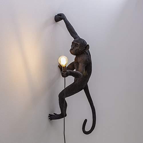 Seletti The Monkey Lamp - hangend rechts zwart -wandlamp in de vorm van een aap - ook geschikt voor buiten