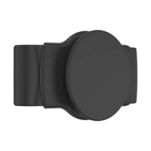 PopSockets: PopGrip Slide Stretch - Un Soporte y Agarre Sin Adhesivo para tu Teléfono Móvil. El PopGrip es Intercambiable y Funciona Solamente con Carcasas/Fundas Redondas - Black