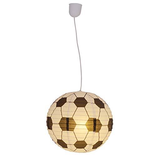 Lámpara de techo para habitación infantil, diseño de fútbol, color blanco y negro