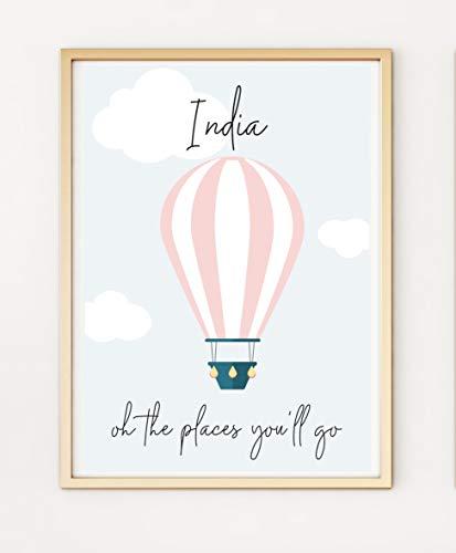 Gepersonaliseerde geboorte baby kinderdagverblijf Gift Keepsake A4 Poster Print PO459