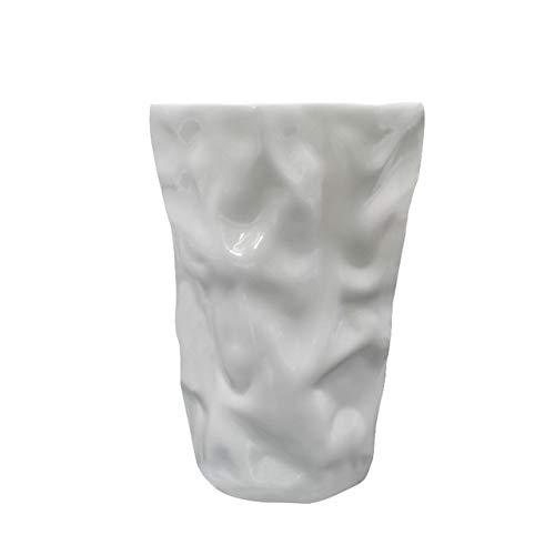 CBVG Creative Art Design Zerknitterte Kaffeetasse Bleifrei Knochen Weiß Origami Limonade Kaffeetasse, Weiß, 500ml