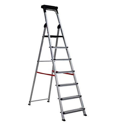 Escalera Ancha de Aluminio ELITE PLUS (7 Peldanos). BTF-TJB407