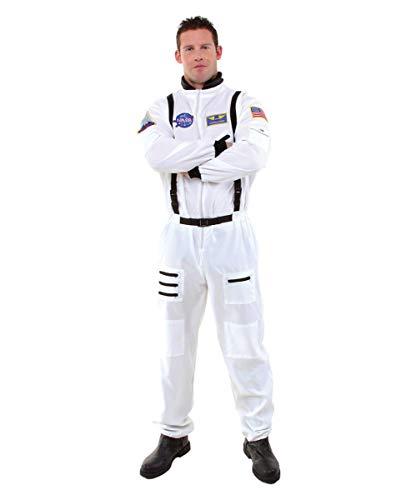 Horror-Shop Weißer NASA Astronauten Kostüm-Overall als Berufskostüm & Uniform