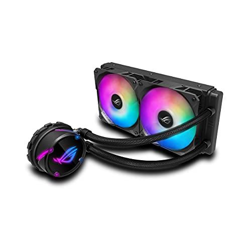 ASUS ROG Strix LC 240 RGB - Sistema de refrigeración líquida de CPU, Aura Sync RGB, Tubo de Goma Reforzado de 38 cm, Ventiladores ROG RGB optimizados