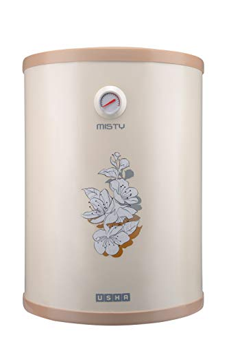 Usha Misty 25 LTR 2000-Watt 5 Star Storage Water Heater (Ivory Cherry Blossom)