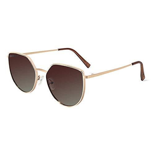 Gafas De Sol Gafas De Sol Polarizadas Redondas para Hombres Gafas De Sol De Conducción De Moda Gafas De Sol Masculinas con Protección UV-C2_Tan