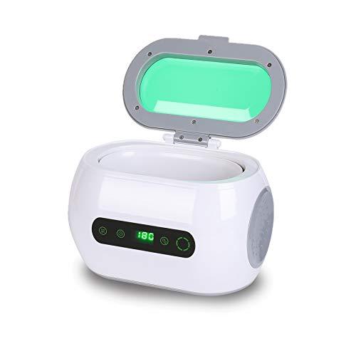 Sfeomi Pulitore Ultrasuoni Ultrasonic 35W Lavatrice Ultrasuoni Pulitore a Ultrasuoni Professionisti Gioielli Lenti con Cestino e Supporto Con Timer Digitale 600ML