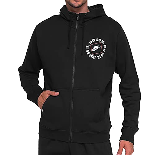 Jaqueta Nike Just Do It Fz Fleece Hoodie Preto Masculino