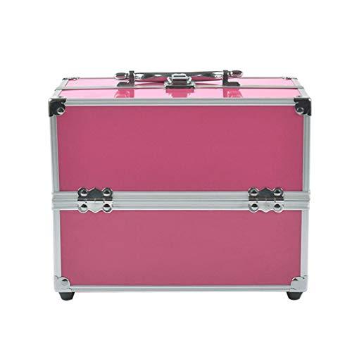 Étui à cosmétiques Rose pour Artiste de Maquillage Grand Rangement de Voyage pour Bijoux Accessoires pour Ongles et Cheveux