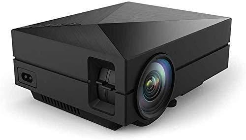 ZOUSHUAIDEDIAN Mini proyector, proyector de video LED para niños presentes, película de video TV, juego de fiestas, entretenimiento al aire libre con interfaces HDMI USB AV y control remoto, proyector