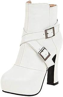 RizaBina Women Fashion High Heels Booties Martin Boots