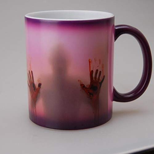 Alexny Mug, Creative Walking Dead mug Color Changing Ceramic Coffee Cup Teacup Hand Temperature