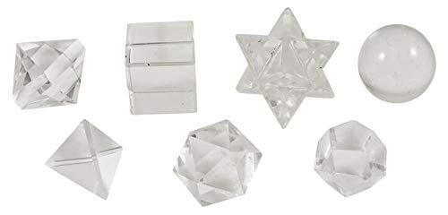 Harmonize Don Espiritual curación de Cristal sólidos platónica Piedra del Cuarzo 7 Piezas geometría Sagrada de Reiki