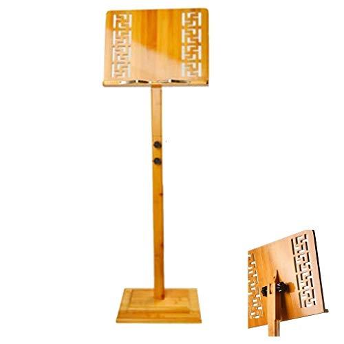 Lessenaar Portable Music Stand Houten hoogte verstelbaar Super Stevige Lichtgewicht Professional for opslag of Travel 1210 muziektafel