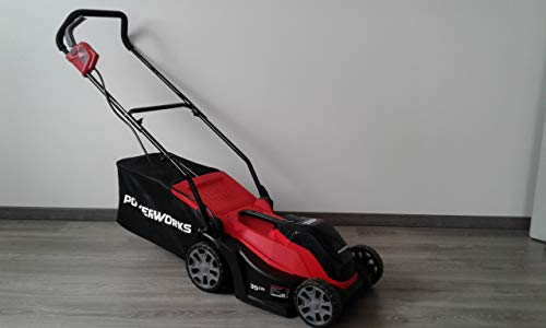 Greenworks/Powerworks 40V Akku Rasenmäher 35cm 2500413 (baugleich mit Greenworks Tools 2501907) (Ohne Akku und Ladegerät)