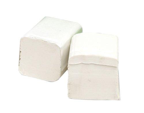2Work Lot de 36 paquets de feuilles de papier toilette Blanc