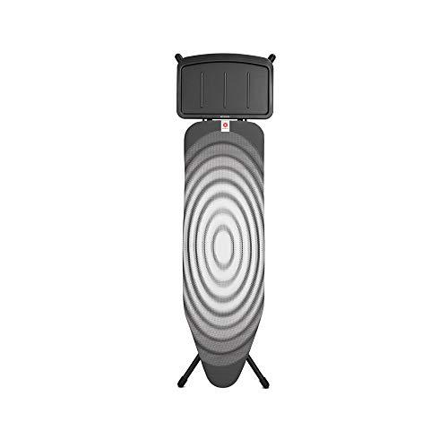 Brabantia 101083 - Tabla de Planchar Plegable edición Limitada, 124 x 38 cm, diseño Titan Oval, Estructura Negra