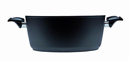 BALLARINI Rialto TP-Olla con Tapa de Vidrio, 24 cm, Compuesto, Negro