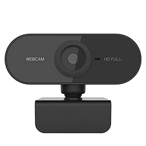 DERCLIVE HD 1080P 30FPS Webcam ordenador PC cámara web con micrófono Drive- libre para llamadas en línea/conferencia