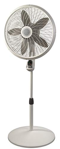 Lasko 1885 18' Cyclone Pedestal Fan with Remote Control, 18 inches White