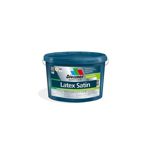 Diessner Latex Satin Dispersions-Latexfarbe Innenfarbe verschiedene Gebinde Wandfarbe (1 Liter)
