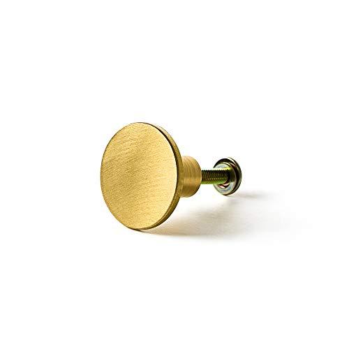 つまみ 真鍮 ノブ 円 Lネジセット Z3K アンティーク ゴールド ハンドル 取手 引き出し DIY ブラス