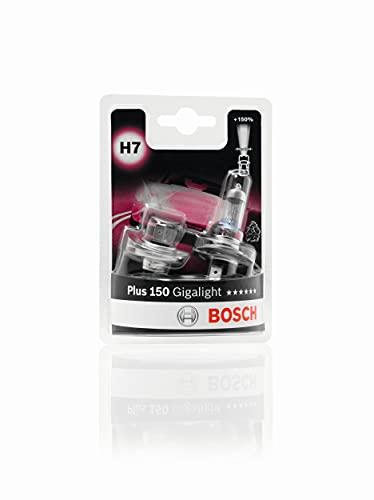 Bosch Plus 150 Gigalight Lámparas para faros, H7, 12V, 55W, PX26d, Lámpara x2