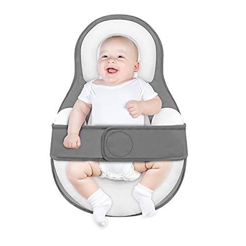 JARDIN Baby Lounger Newborn Baby Nest Pillow for Co-Sleeping, Newborn Lounger with Ultra Soft Breathable Cotton, Adjustable Baby Bed Lounger Crib for 0-12 Months Babies