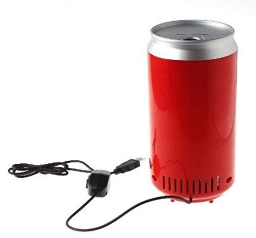 SXXYTCWL Mini PC USB Frigorífico Bebida Bebidas Latas Frigorífico Rojo más frío...