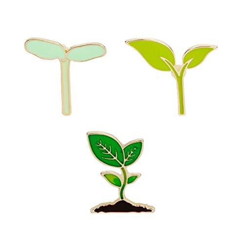 Vektenxi Cartoon Pflanze Serie Pins Broschen Set süße Blätter Sojabohnensprossen Brosche Emaille Pin Badge für Kleidung Taschen tragbar und nützlich