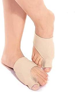 comprar comparacion Corrector de juanetes de gel 1 par, protectores de férula para dedo gordo del pie, funda de apoyo con separadores de silic...
