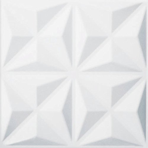 clasificación y comparación WallArt Cullinans 3D Panel de pared 12 piezas GA-WA17 Environmental White para casa