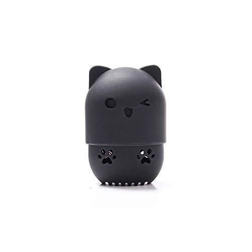 Maquillage porte-éponge de beauté boîte de séchage oeuf mélangeur cosmétique portable en silicone souple boîte éponge,1PC