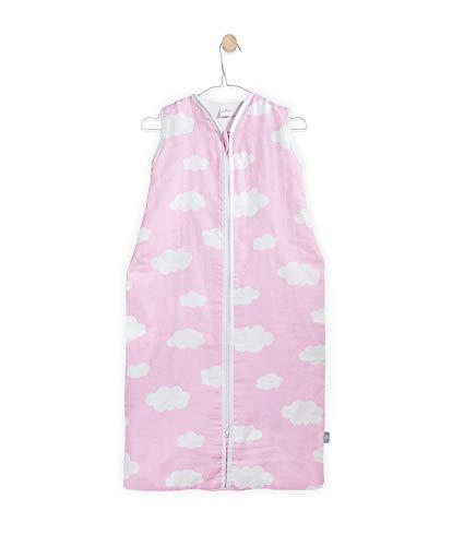 Jollein 048-510-65056 slaapzak zomer 70 cm, Mull Clouds roze