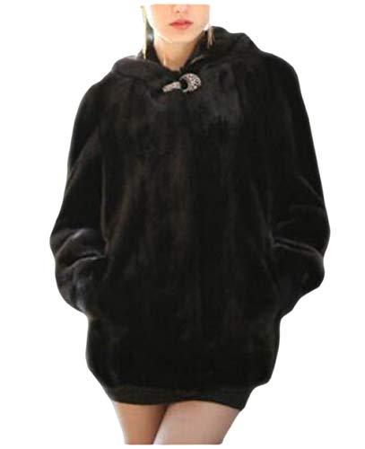 Dawwoti dames faux plezierig parka outwear fluffy lange mouwen voorzijde open hoodie trekker voor het kerstfeest