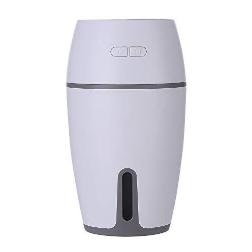 aiyvi Luftbefeuchter 300ML,Mini Nachtlicht LED Tragbar Luftbefeuchter Luft Zerstäuber Zerstäuber, 20 Stunden Dauer,für Büro, Zuhause, Hotel, Auto (Weiß)