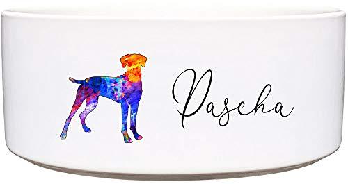Cadouri Keramik Hundenapf ︎ personalisiert ︎ mit Name deines Hundes┊Futternapf Wassernapf (Rhodesian Ridgeback) - 1.300 ml