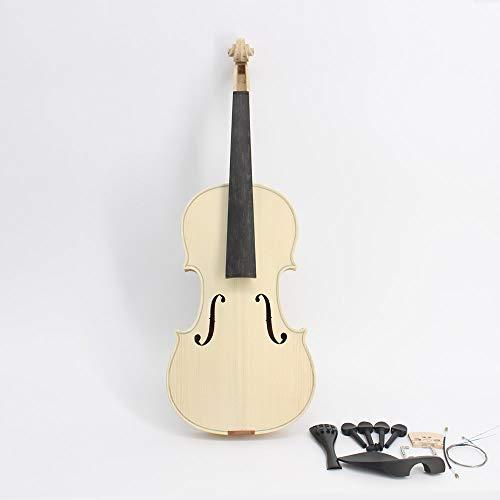 XTQDM Violino Violino Bianco Selettivo 10 Anni Acero Secco Naturale Top Abete Rosso Fatto A Mano Violino Full Size, Violino con Raccordi
