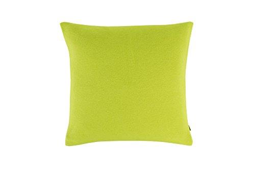 Zoeppritz Soft-Fleece Kissenbezug I Farbe Neon Green Grün I 40x40 cm