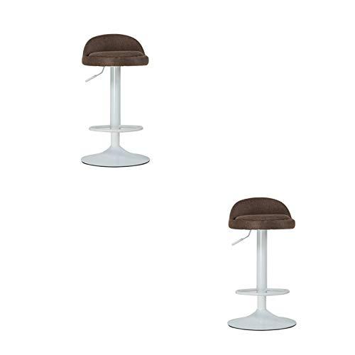 FYMDHB886 Barkruk Multifunctionele counterkruk Barstoel Hoge kruk Stof katoenen staafstoel Veiligheid gasstang kan worden gedraaid Metalen handvat (2 pakjes), Size, D