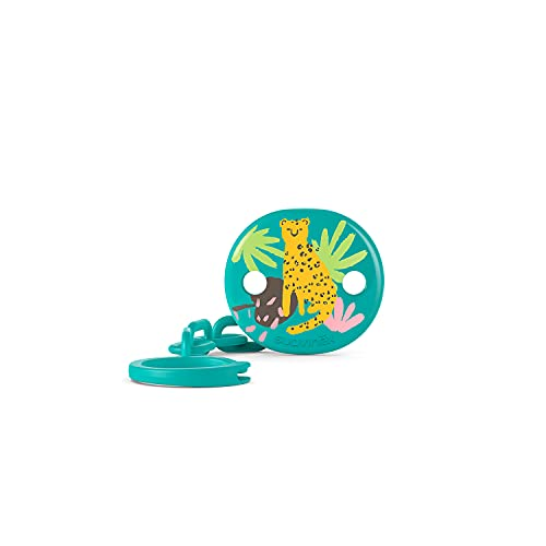 Suavinex Broche Pinza de Chupetes Para Bebés +0 Meses, Cadena Chupetes Bebé, Verde