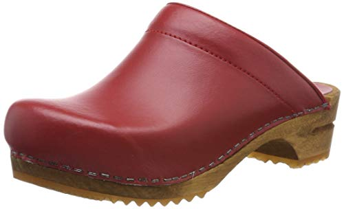 Sanita Damen Lotte Open Clogs, Rot (Red 4), 38 EU