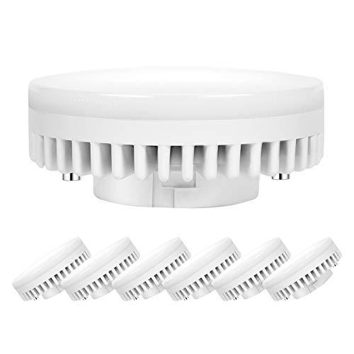 Ampoule LED GX53 9W 2700K Blanc Chaud,Auting Culot GX53,Non Dimmable,Équivalent 85W Ampoules Halogènes Lampe,900Lumens,Angle 120 Degrés, Lot de 6