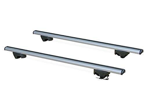 La Prealpina 10902+L1152-5603 Models Without Rails Only La Prealpina Aerodynamic Aluminium Roof Bars Lockable Anti-Theft