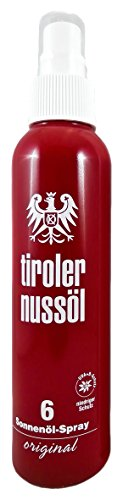 Tiroler Nussöl Sonnenöl Spray original LSF 6 wasserfest, 1er Pack (1 x 150 ml)