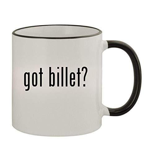 got billet? - 11oz Ceramic Colored Rim & Handle Coffee Mug, Black
