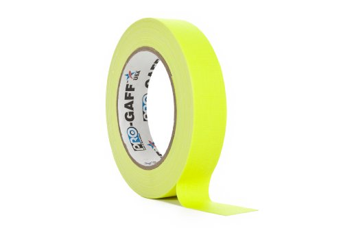 ProTapes/Permacel Klebeband, fluoreszierend, 24mm x 22,8m gelb