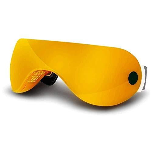 ZQY Eye Massager, Heat Pack Soothing Eye Protection Instrument Correcting Astigmatism Eye Relief Eye Fatigue (Color : Yellow)