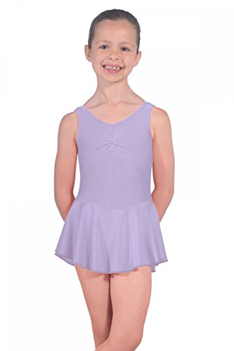 Roch Valley Leotard with Skirt Istdj-Maillot de Lycra con Falda, niña, Lila, Age 3-4