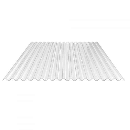 Lichtplatte   Spundwandplatte   Profil 76/18   Material Polycarbonat   Breite 1265 mm   Stärke 0,9 mm   Farbe Glasklar